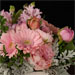 bouquet in pink with donation to breast cancer prevention